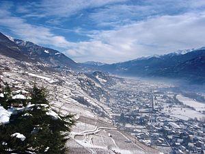 Valtellina - A view of the Valtellina from Castel Grumello