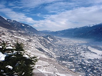 Valtellina - A view of the Valtellina from Castel Grumello