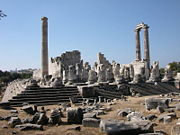 Remains of the temple of Apollo at Didyma.