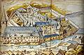 Die Abtei Neumünster in den Mauern des alten Sankt-Johann-Hospitals (1602).jpg