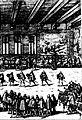 Diederich Graminaeus (1550-1610). Beschreibung derer Fürstlicher Güligscher ec. Hochzeit (Johann Wilhelm von Jülich-Kleve-Berg ∞ Jakobe von Baden-Baden, Hochzeit in Düsseldorf im Jahre 1585), Köln 1587 Nr. 12, Ausschnitt (Hälfte, rechts).JPG