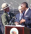 Director of the National Park Service Jon Jarvis and Mayor Jeffrey Jones (6326840716).jpg