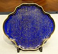 Dish with inscription on achievements in ceramics, by Koransha Company, Meiji period, dated 1876, ceramic, overglaze gold, blue glaze - Tokyo National Museum - Ueno Park, Tokyo, Japan - DSC09298.jpg