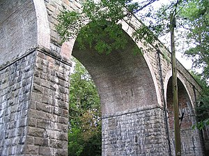Ffrith - Image: Disused railway viaduct, Ffrith geograph.org.uk 208054