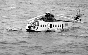 British Airways Helicopters - Sikorsky S-61N (G-ASNL) crashed in the North Sea 1983