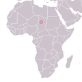 Djourab, Chad ; Sahelanthropus tchadensis 2001 discovery map.png