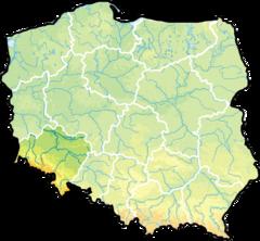 Wojew�dztwo dolno�l�skie na mapie Polski