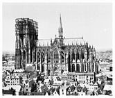 Cologne Cathedral from the south, towers under construction, negative no.  RBA 42.780, photo taken in 1875 (Rheinisches Bildarchiv Cologne)