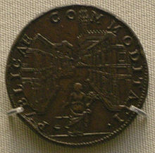Domenico Poggini, medaglia di Cosimo I celebrante la creazione degli Uffizi