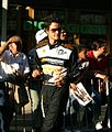 Dominik Farnbacher at Le Mans drivers parade 2010.jpg