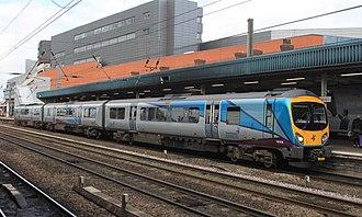 British Rail Class 185 - Image: Doncaster TPE 185106 Manchester A Irport servce