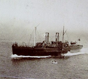 Douglas pictured approaching Douglas, Isle of Man.