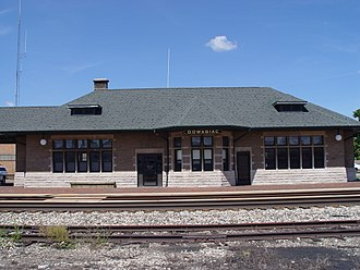 Cass County, Michigan - Image: Dowagiac Depot