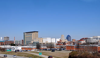 Research Triangle - Downtown Durham, North Carolina.