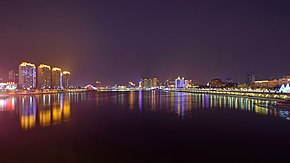 Downtown Jilin City and Songhua River night.jpg