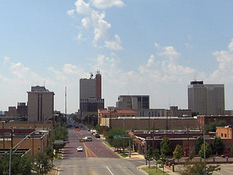 West Texas - Image: Downtown Lubbock from I 27 2005 09 10