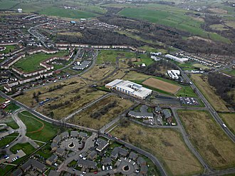 Drumchapel - Image: Drumchapel from the air (geograph 5310333)