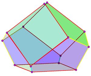 Triaugmented triangular prism - Image: Dual of triaugmented triangular prism