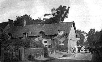 Duffield, Derbyshire - Cottages in Hazelwood Road removed to build the Church Hall (c. 1900)