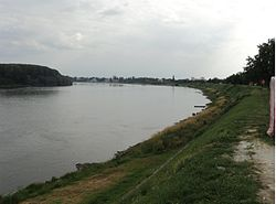 Danube river in Borovo
