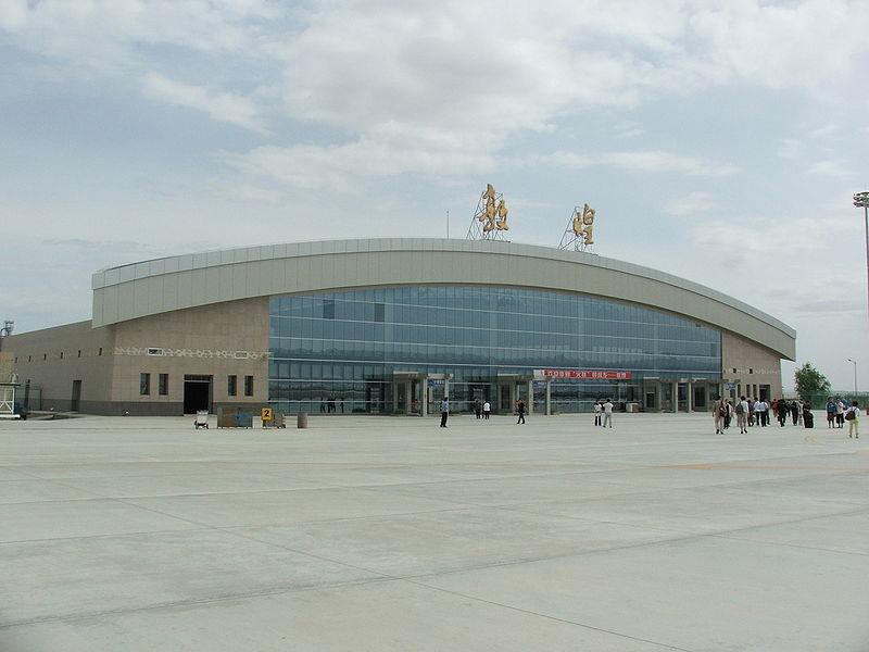 Bandara Dunhuang, Provinsi Gansu, Tiongkok.