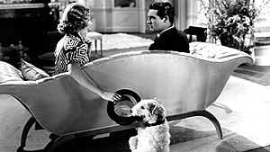 The Awful Truth - Irene Dunne, Skippy and Cary Grant in The Awful Truth