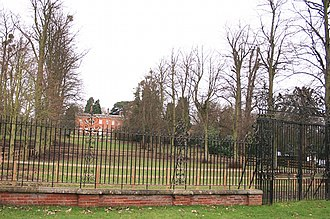 Archibald Primrose, 5th Earl of Rosebery - Durdans, Woodcote End, Epsom, Surrey, England was the place of Rosebery's demise in 1929, shown in 2011. Its gardens are smaller than when engraved by John Hassell in 1816.