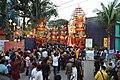 Durga Puja Pandal with Spectators - Tridhara Sammilani - Manohar Pukur Road - Kolkata 2014-10-02 9009.JPG