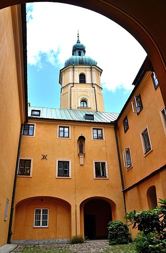 St. Martin's Church, Warsaw - The monastery courtyard.