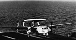 E-2A Hawkeye of VAW-115 lands on USS Ranger (CVA-61), circa in 1968.jpg