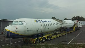 B&H Airlines - Image: E7 AAD at Bosnian custom