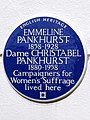 EMMELINE PANKHURST 1858-1928 Dame CHRISTABEL PANKHURST 1880-1958 Campaigners for Women's Suffrage lived here.jpg