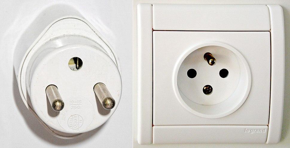 E plug and socket