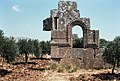 East Church, Me'ez (ماعز), Syria - Remains of south façade of Church - PHBZ024 2016 5439 - Dumbarton Oaks.jpg