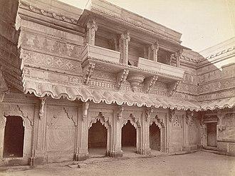 Gwalior Fort - Courtyard of Maan Mandir