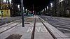 Edinburgh tram lines in York Place, 4 January 2014.jpg