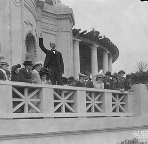 Edmond S. Meany - Meany addressing the president and stockholders of the Alaska-Yukon-Pacific Exposition in September 1908, the year before the exposition.