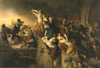 Sack of Magdeburg - The Plundering of Magdeburg - The Magdeburg Maidens, historical painting (1866)