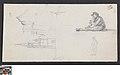 Een toren, zittende knaap en andere studies, circa 1811 - circa 1842, Groeningemuseum, 0041689000.jpg