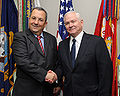 Ehud Barak and Robert M. Gates at the Pentagon, 11-2009.JPG