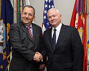 Ehud Barak and Robert M. Gates at the Pentagon, 11-2009