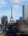 Eiffel Tower and RER C, Paris 7 February 2016.jpg
