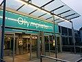 Eingang Olympiaturm, München.jpg
