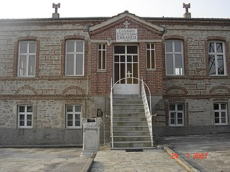 Sevasti - The temple of the Greek Evangelical Church in Sevasti.