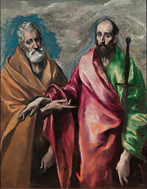Saint Peter and Saint Paul (El Greco) - Image: El Greco Saint Peter and Saint Paul Google Art Project