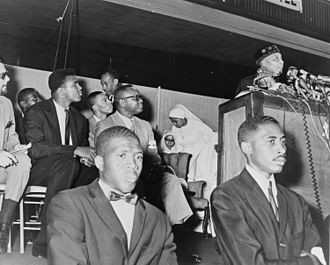 Malcolm X - Image: Elijah Muhammad and Cassius Clay NYWTS