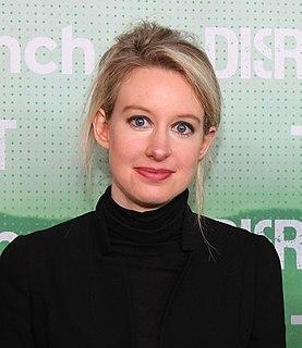 Elizabeth Holmes Former CEO of Theranos Corporation
