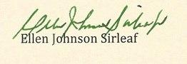 Ellen Johnson Sirleaf signature