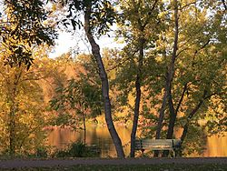 A beautiful fall day along the Mississippi River at Ellison Park in Monticello