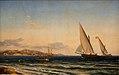 Emanuel Larsen - Aften ved Middelhavet. I baggrunden Marseille og øen If - KMS716 - Statens Museum for Kunst.jpg